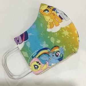 Adult face mask handmade my little pony print